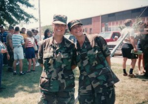 My friend Carla and I. FLW. MO August 1993.